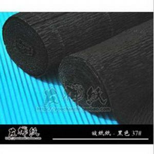 Thick Crepe paper, black, 50cm x 40cm, 1 sheet, [CR85a]